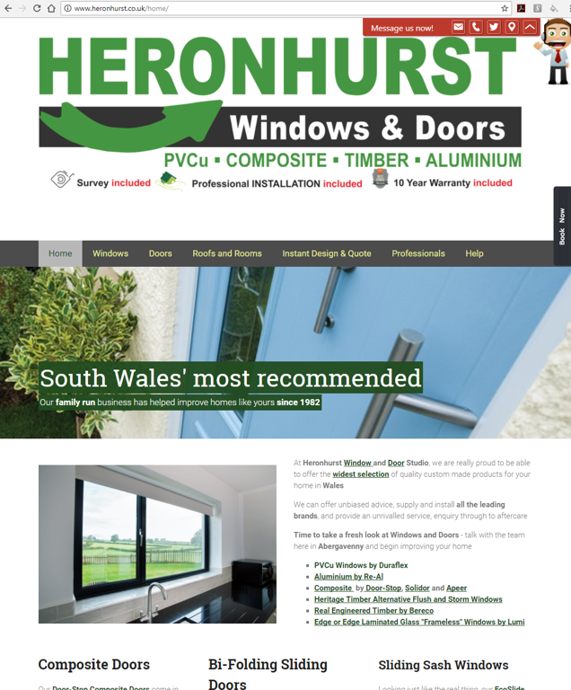 Heronhurst Window and Door Studio Website