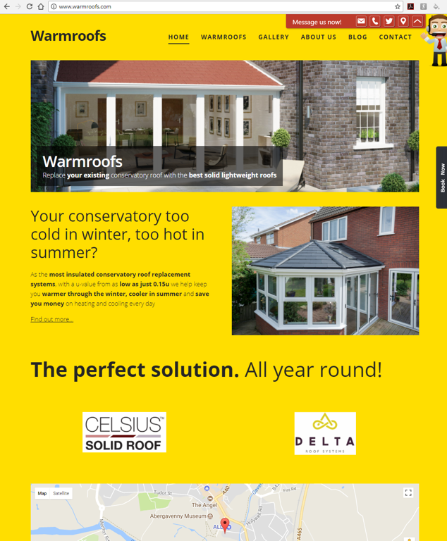 Warmroofs.com is the website for solid conservatory replacement roofs
