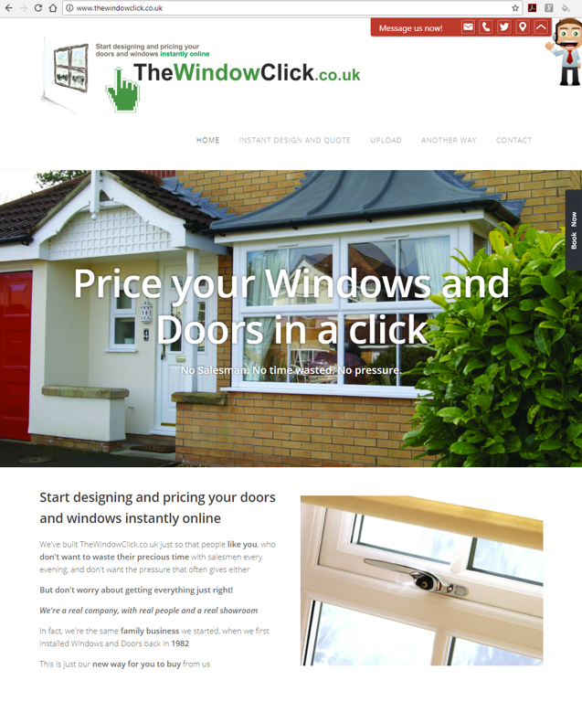 TheWindowClick.co.uk Website for instant online design and pricing